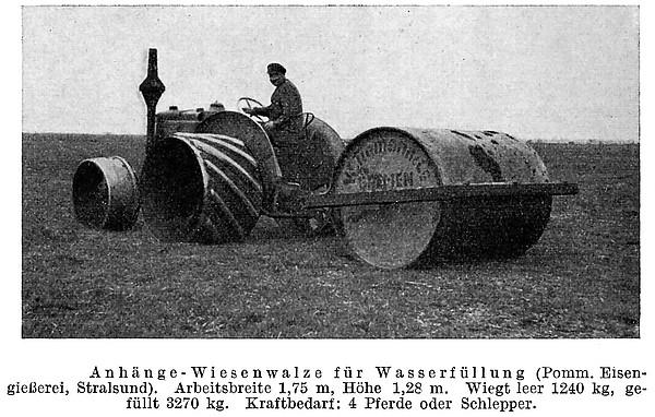 Anhänge-Wiesenwalze für Wasserfüllung
