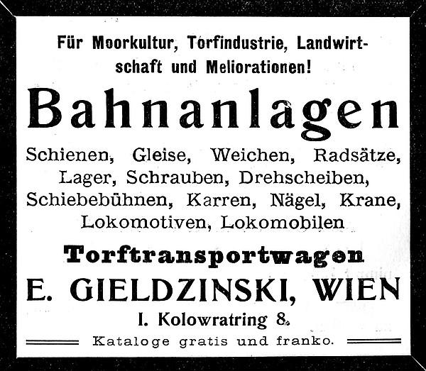 Annonce 19: Moornutzung (1900 bis ca. 1920)