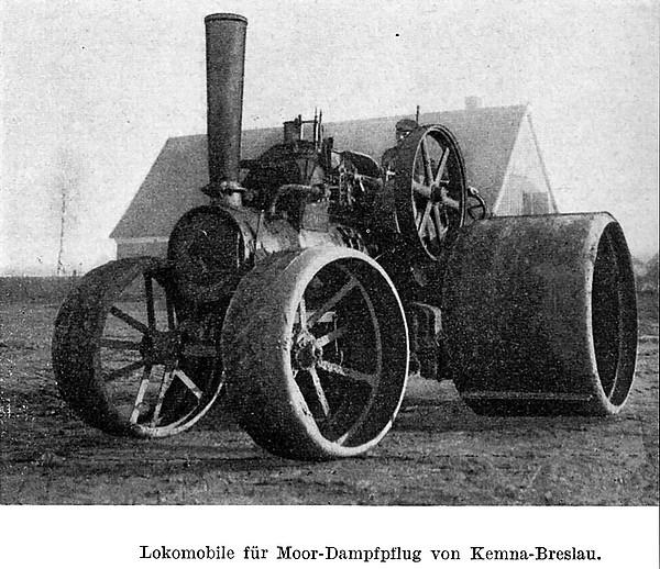 Lokomobile für Moor-Dampfpflug von Kemna-Breslau. (um 1930)