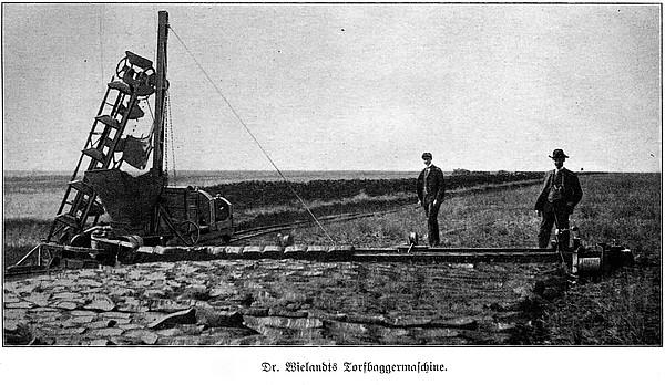 Dr. Wielandts Torfbaggermaschine (um 1910)