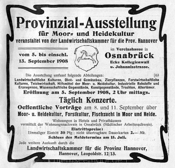 Annonce 25: Moornutzung (1900 bis ca. 1920)