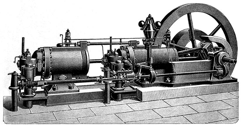 Gasdynamo der Fa. Körting zur Stromerzeugung (um 1900).