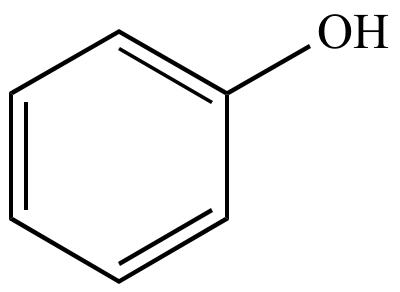 Chemische Formel von Phenol = Karbolsäure